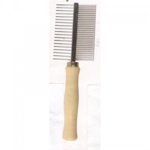 Pieptene FERRIBIELLA maner lemn, dublu 35 + 8 dinti, PTT1003B