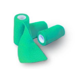 Bandaj elastic autoadeziv VERDE - 15 cm