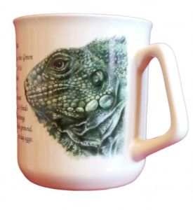 Cana ceramica The Green Iguana - E06-1097