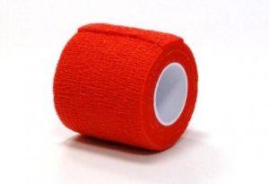 Bandaj elastic autoadeziv ROSU - 5 cm