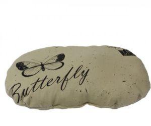 Perna ovala Butterfly bej, 60 x 47 cm