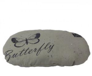 Perna ovala Butterfly gri, 70 x 55 cm