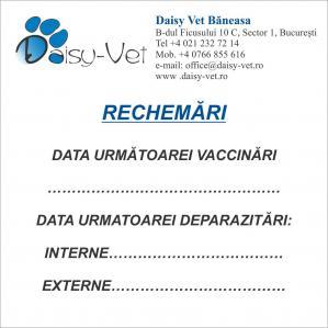 Cub hartie rechemari vaccinare, 97 x 97 mm