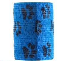 Bandaj elastic autoadeziv albastru imprimeu labute - 10 cm