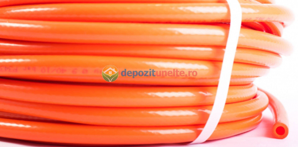 Furtun pvc portocaliu 8mm 25m