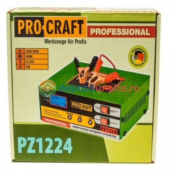 Redresor 12-24V, incarcare 10A, 6-100 Ah, ProCraft PZ-1224, Baterii Auto si Acumulatoare, Model 2019
