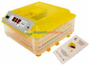 Incubator automat 48 oua de gaina si 132 oua de prepelita , clocitoare cu intoarcere automata si controlul umiditatii MODEL 2018