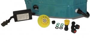 Pompa stropit electrica + Manuala ( 2 in 1 ) 16 Litri 5,5 Bar, Model 2019 + regulator presiune, Vermorel electric cu baterie - acumulator 12V 8Ah