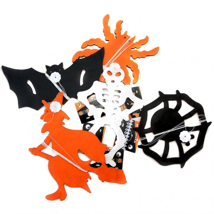 Ghirlanda dovleac schelet/ paianjen/ liliac