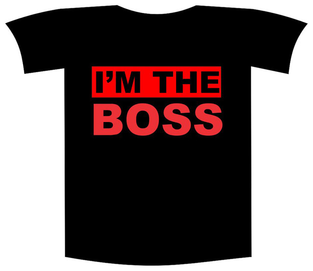 "Tricou imprimat ""I'm the boss"""