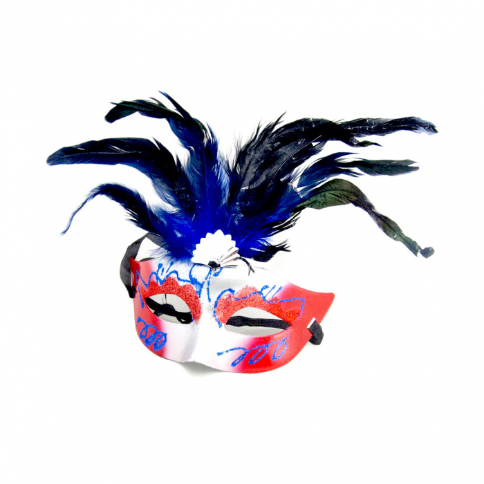 Masca Venetia pentru ochi cu pene