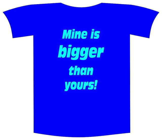 "Tricou imprimat ""Mine is bigger"""