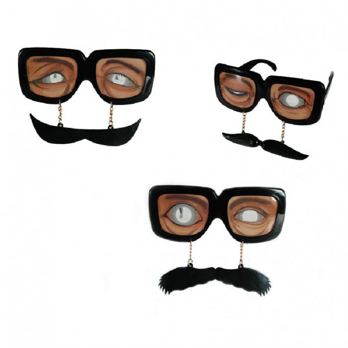 Ochelari plastic moustache