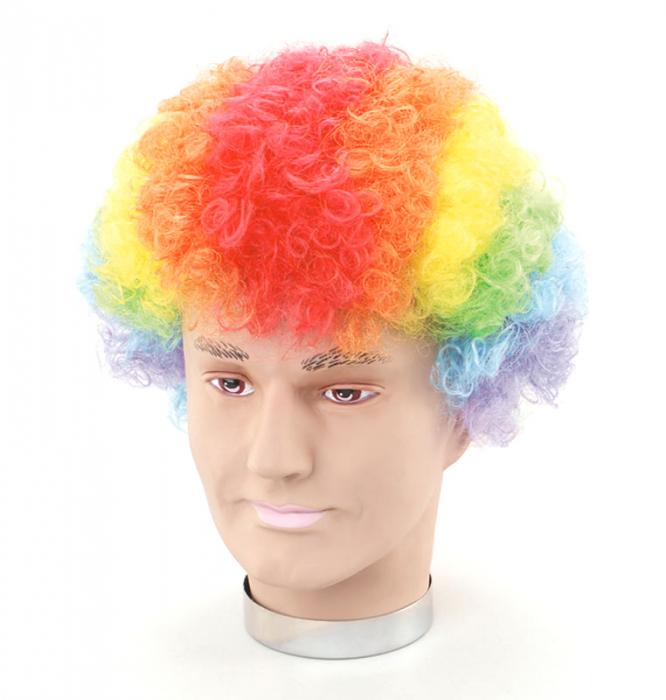 Peruca clown multicolora