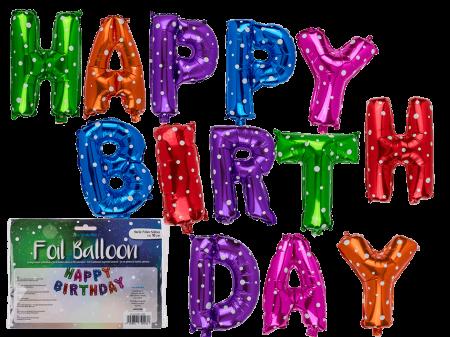 Set baloane folie Happy Birthday
