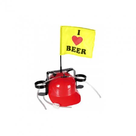 Casca de bere cu stegulet si suport de doze