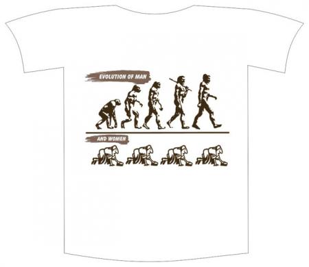 "Tricou imprimat ""Evolution of man"""