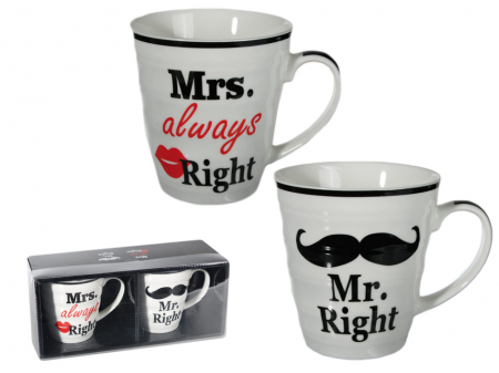 Set cani Mr. Right si Mrs. Always Right