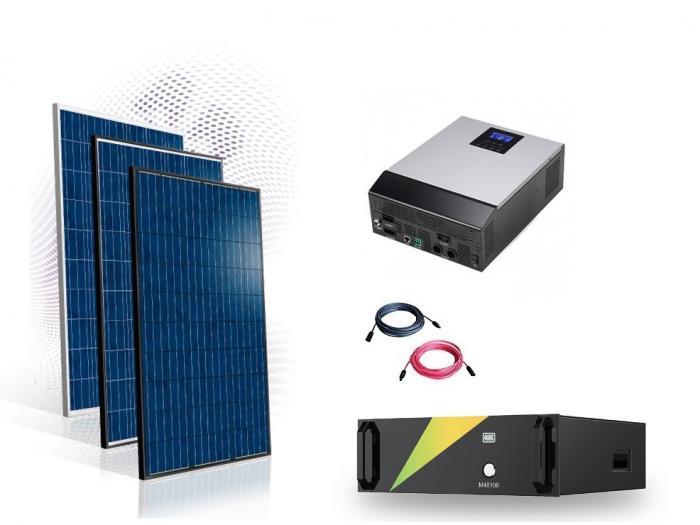 Sistem fotovoltaic Off-Grid 6kw cu baterie LifePo 100A-big