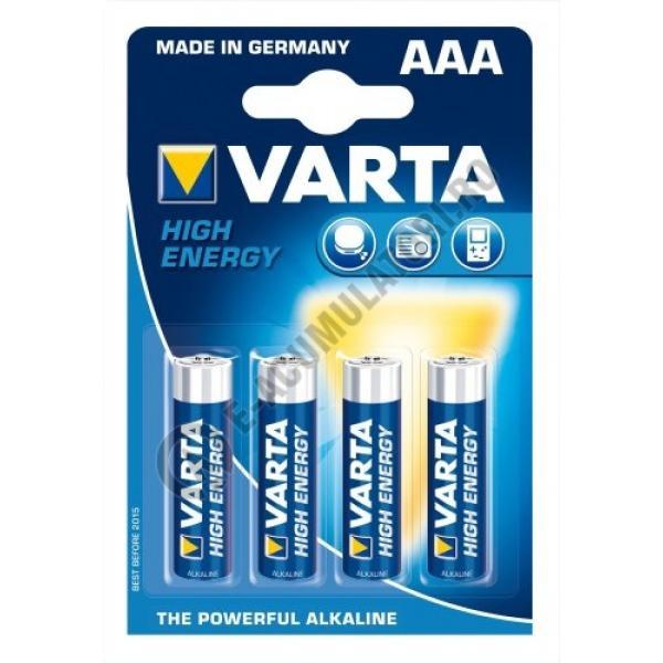Baterii alcaline Varta High Energy AAA  blister de 4 buc-big