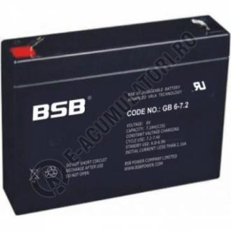 Acumulator VRLA BSB 6V 7.2 Ah cod GB6-7.2-big
