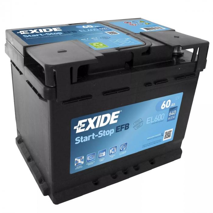 Acumulator Auto Exide EFB 60 Ah cod EL600 START-STOP-big