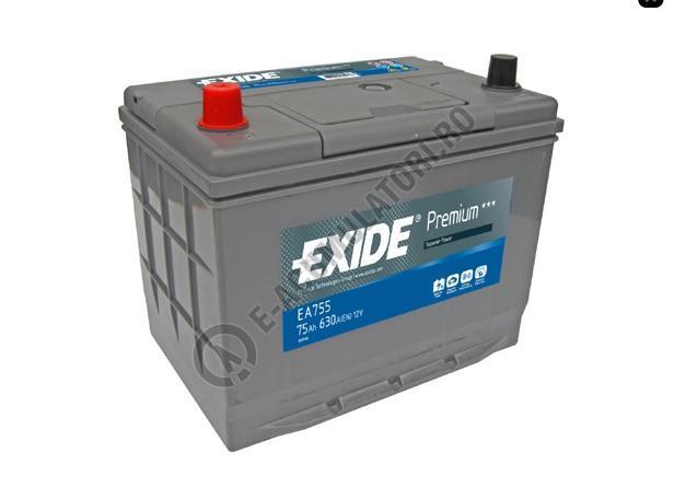 Acumulator Auto Exide Premium Asia 75 Ah cod EA755 borne inverse-big