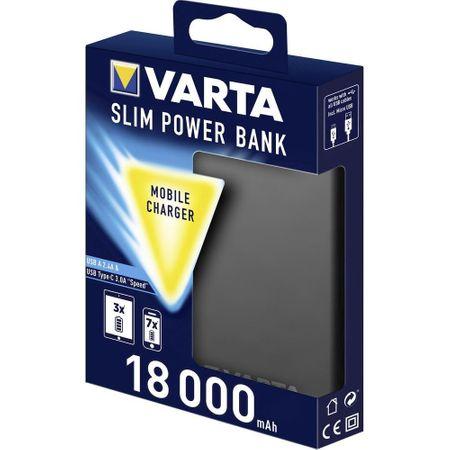 Acumulator extern Varta Slim 18000mAh USB-A si USB-C Litiu-Polimer-big
