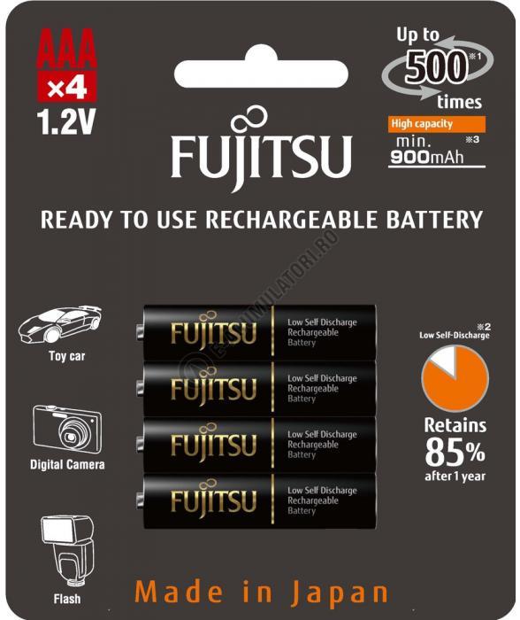 Acumulator FUJITSU BLACK PRO 4x AAA ready to use HR-4UTHCEX-4B-big