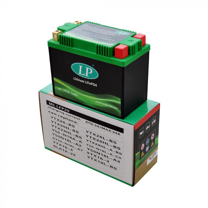 Acumulator Moto LandPort Li-Ion 12V 72 Wh 360A LFP20-big