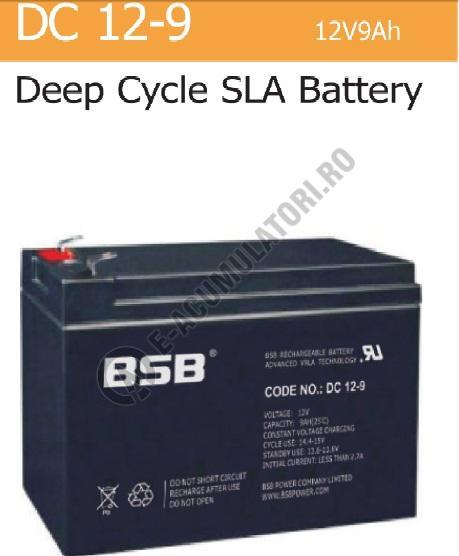 Acumulator VRLA BSB 12 V 9 Ah cod DC12-9-big