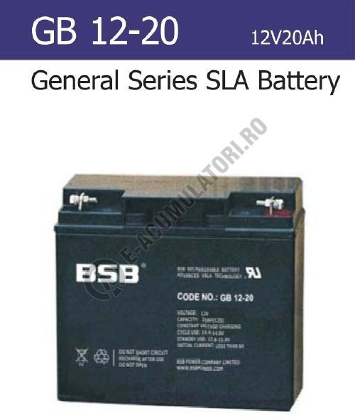 Acumulator VRLA BSB 12V 20 Ah cod GB12-20-big