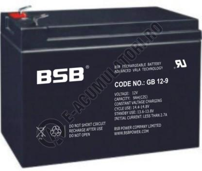 Acumulator VRLA BSB 12 V 9 Ah cod GB12-9-big