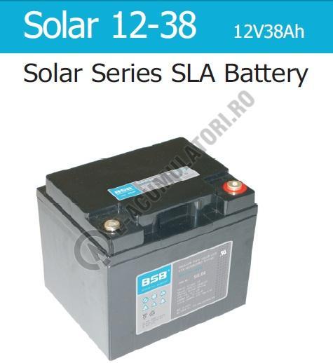 Acumulator VRLA cu GEL BSB 12 V 38 Ah cod SOLAR12-38-big