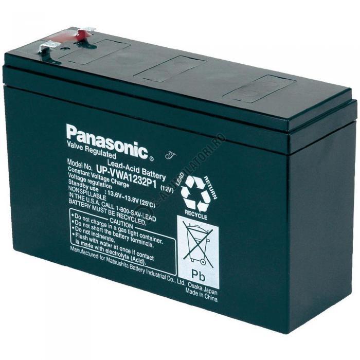 Acumulator VRLA Panasonic 12V 190 W 32W/celula cod UP-VWA1232P2-big