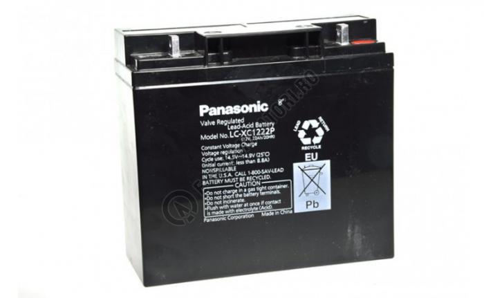 Acumulator VRLA Panasonic 12V 22Ah cod LC-XC1222P-big