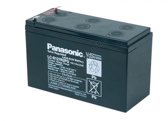 Acumulator VRLA Panasonic 12V 7,2 Ah cod LC-R127R2PG (F187)-big