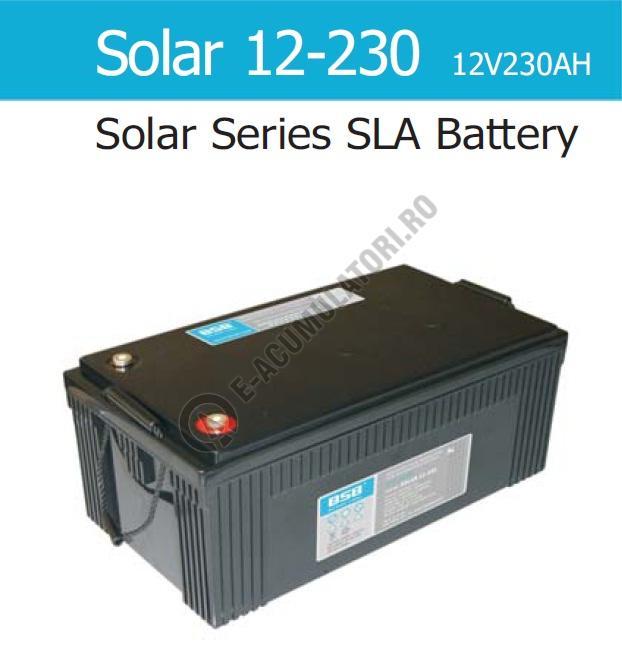 Acumulator VRLA Solar BSB 12 V 230 Ah COD SOLAR12-230-big