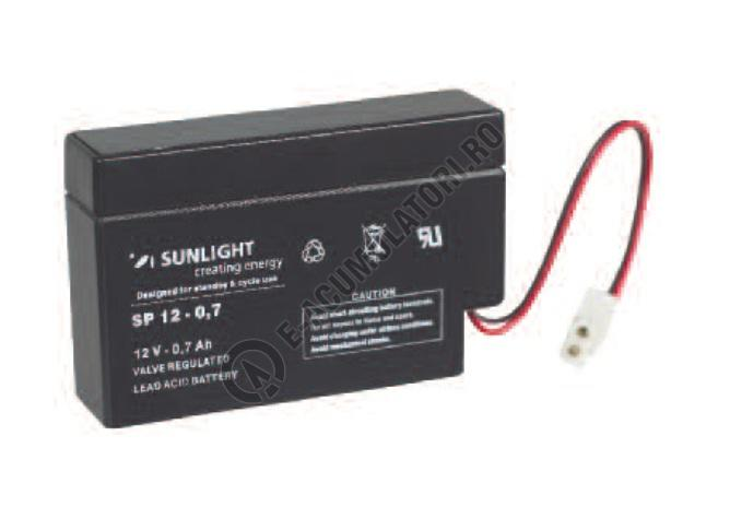 Acumulator VRLA SUNLIGHT 12V 0.7 Ah cod SPA 12-0.7-big