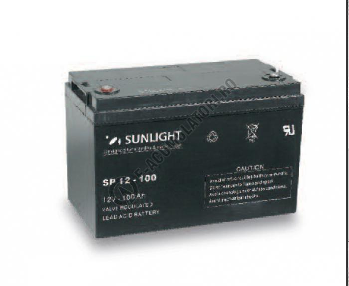 Acumulator VRLA SUNLIGHT 12V 100 Ah cod SPB 12-100-big
