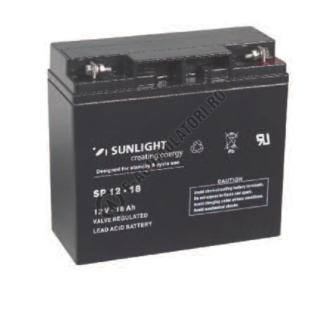 Acumulator VRLA SUNLIGHT 12V 18 Ah cod SPA 12-18-big