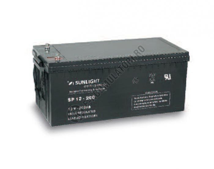 Acumulator VRLA SUNLIGHT 12V 200 Ah cod SPB 12-200-big