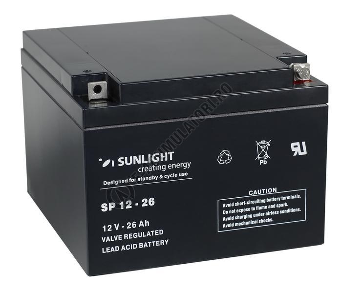 Acumulator VRLA SUNLIGHT 12V 26 Ah cod SPA 12-26-big