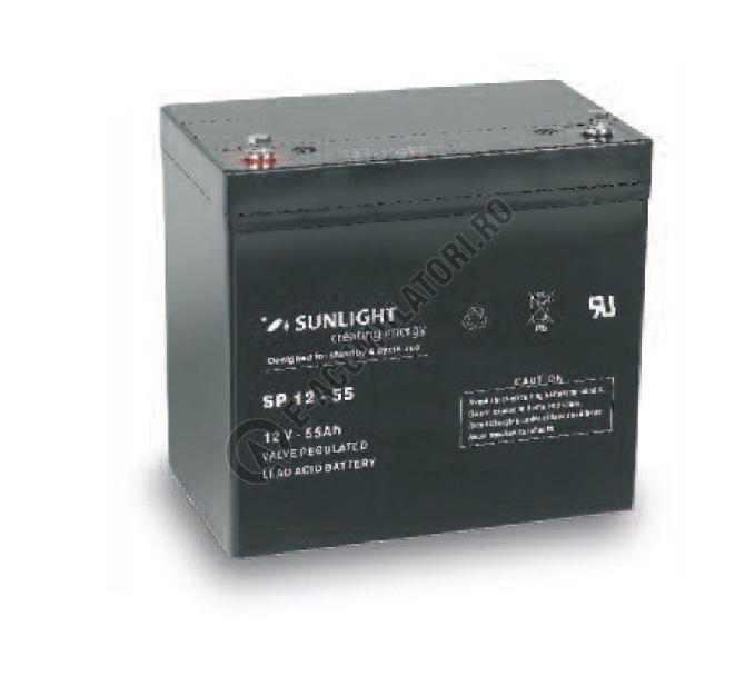 Acumulator VRLA SUNLIGHT 12V 55 Ah cod SPB 12-55-big