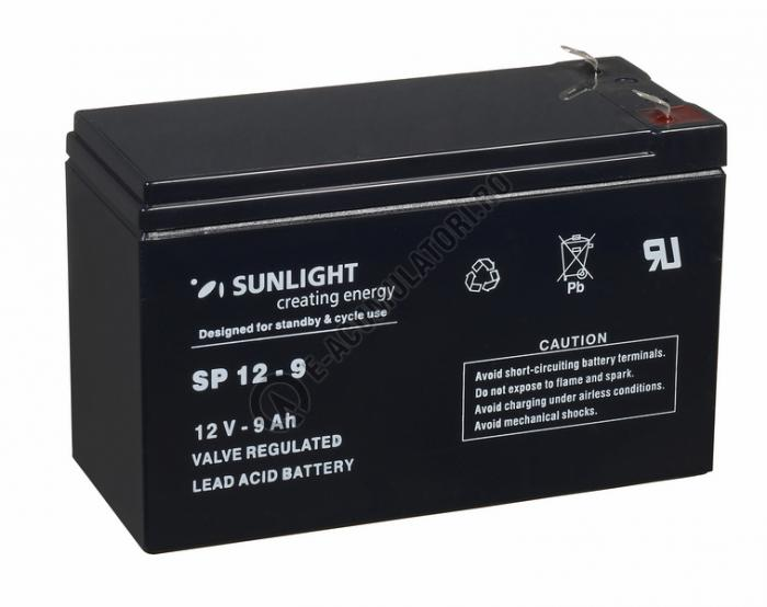 Acumulator VRLA SUNLIGHT 12V 9 Ah cod SPA 12-9-big
