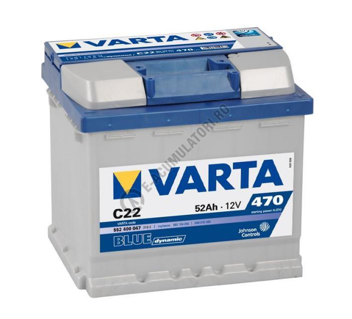 BATERIE AUTO VARTA BLUE 52 Ah cod C22 - 5524000473132-big