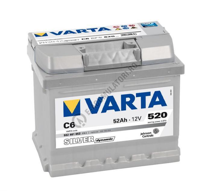 BATERIE AUTO VARTA SILVER 52 Ah cod C6 - 5524010523162-big