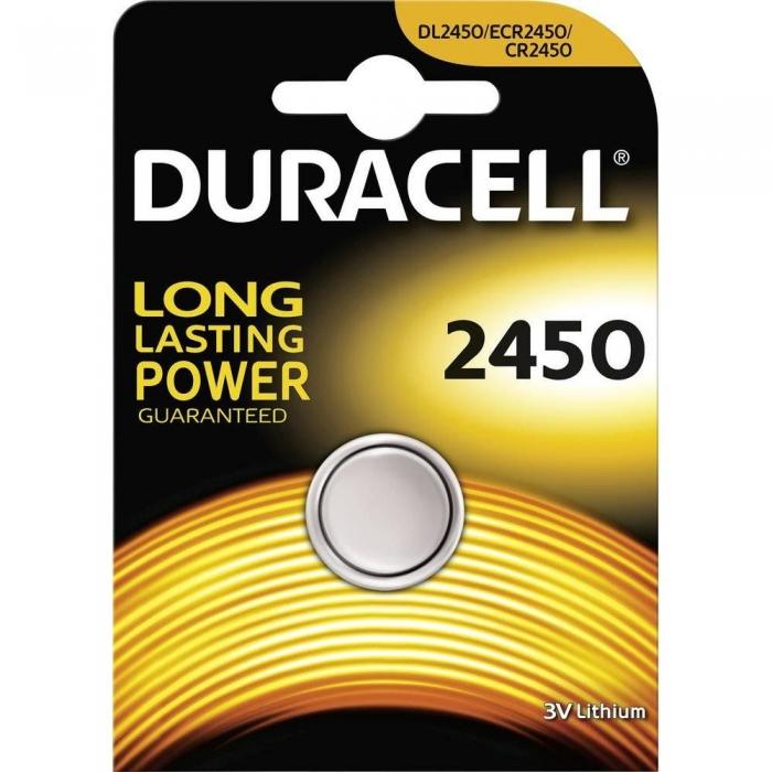 Baterie litiu Duracell DL 2450 3V blister 1 buc-big