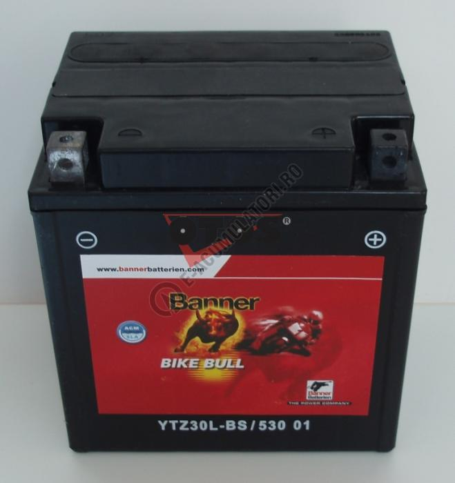 Baterie MOTO BANNER BIKE BULL AGM+SLA 12V 30 Ah YTZ30L-BS cod 530 01-big