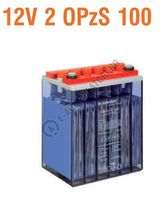 Baterie stationara monoblock Sunlight 12V 2 OPzS 100-big